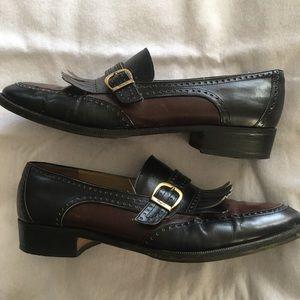 Salvatore Ferragamo two tone loafers 💛